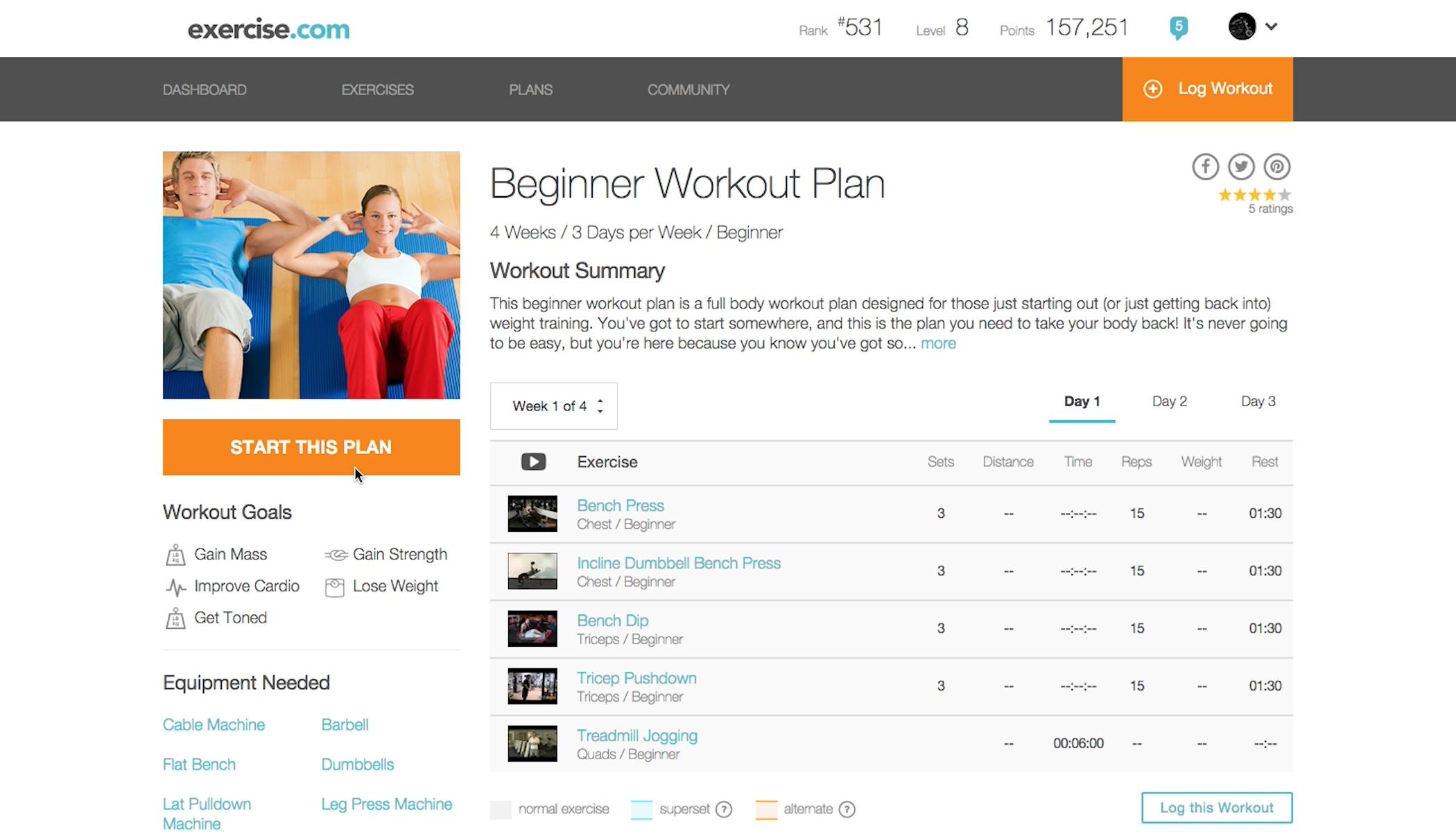 Upgrade To PRO Follow This Workout Plan