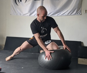 BJJ Solo Drills w/Stability Ball